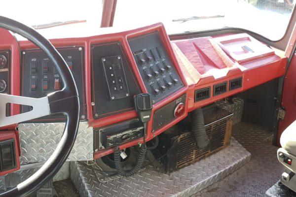 Inside Fire Truck
